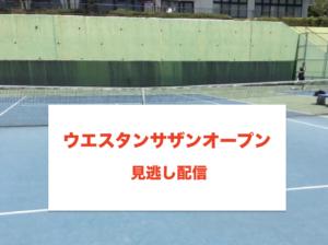 ウエスタンサザンオープン2020決勝の見逃し配信に関する参考画像